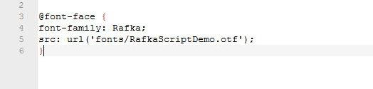 @font-face CSS