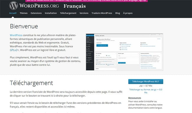 site wordpress.org