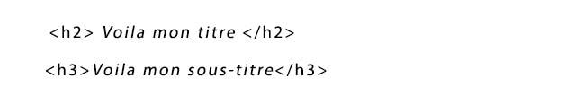 balise html titre
