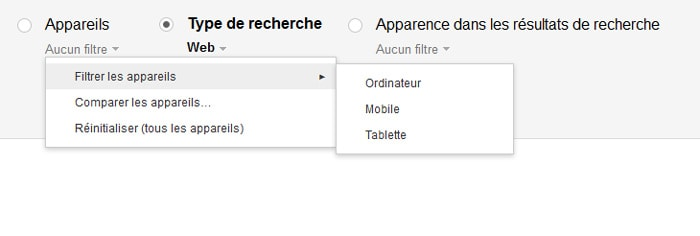 filtre SearchConsole