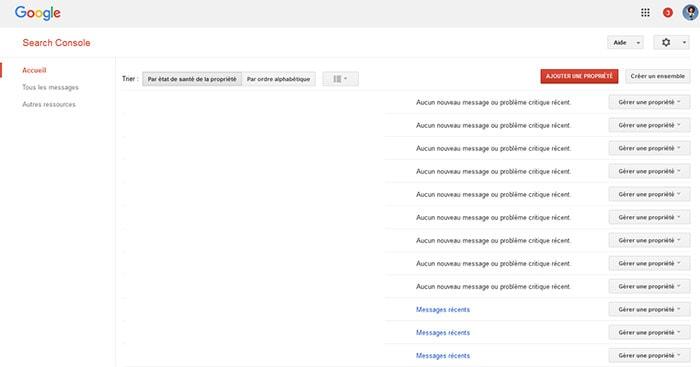Inscrire son site dans SearchConsole